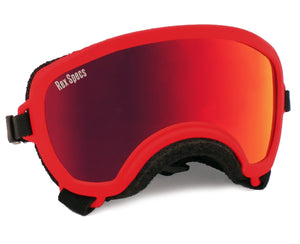 Rex Specs Dog Goggles Small Wide - Red - Black Dog Offroad