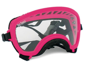 Rex Specs Dog Goggles Small Wide - Neon Pink - Black Dog Offroad