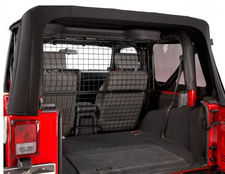 Attractive Bestop Pet Barrier For 07 17 Jeep Wrangler Unlimited JK   Black Dog Offroad