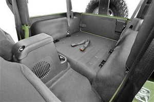Bedrug BedTred Premium Molded Rear Floor Covering for 97-06 Jeep Wrangler TJ - Black Dog Offroad