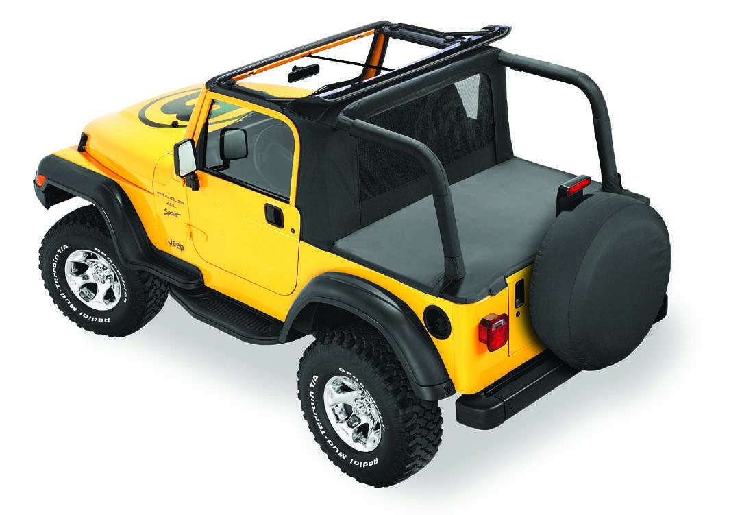 Bestop Halftop In Black Denim For 97 02 Jeep Wrangler TJ With Factory Soft  Top