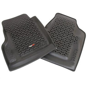 Rugged Ridge Front Floor Liner Pair for 97-06 Jeep Wrangler TJ & Unlimited - Black Dog Offroad