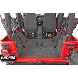 Bedrug Premium Carpeted Rear Floor Covering for 97-06 Jeep Wrangler TJ - Black Dog Offroad