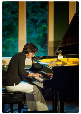 Dana Cunningham plays piano at Stone Mountain Art Center