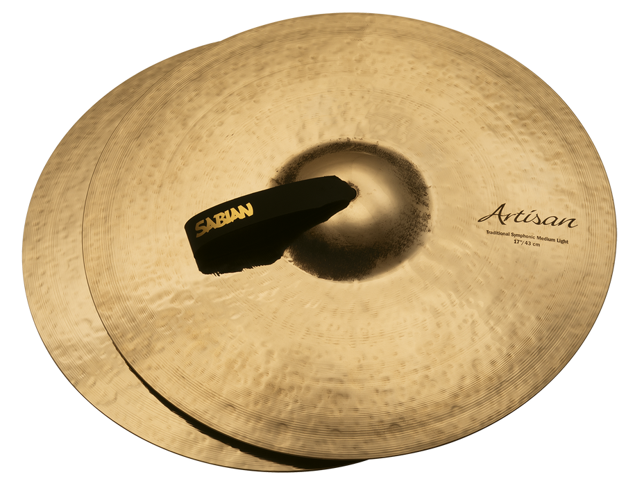"17"" SABIAN Artisan Traditional Symphonic Medium Light Brilliant Finish"
