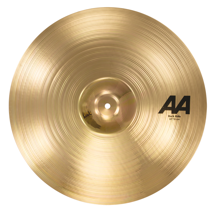"20"" SABIAN AA Rock Ride Brilliant Finish"