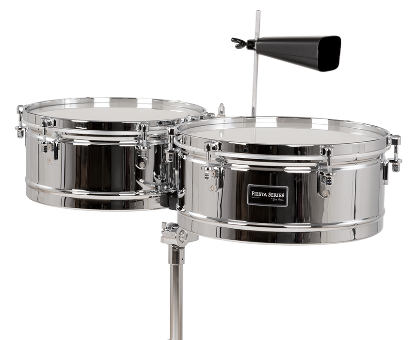 "Gon Bops Fiesta Series 14""/15"" Timbale Set Chrome"