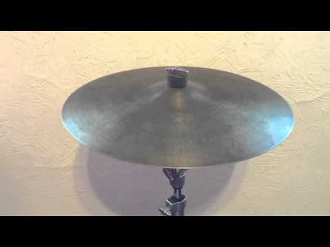 "Video and audio recording/demo of the 18"" Zildjian Avedis Crash Ride - Vintage Hollow Logo"