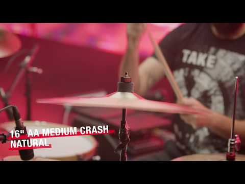 "16"" SABIAN AA Medium Crash, Natural Finish Video Demo"