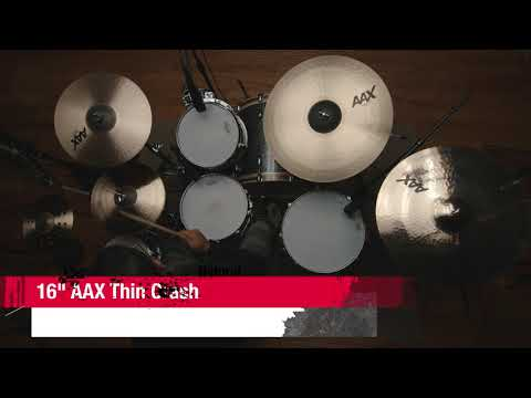 "16"" SABIAN AAX Thin Crash Video Demo"