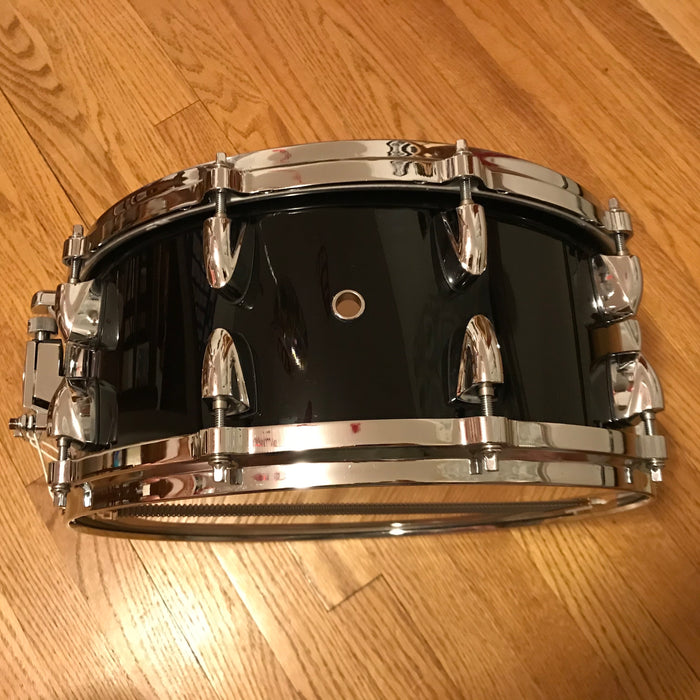"14""x6"" Yamaha MAS1460 Maple Custom Absolute Snare Drum - Solid Black"