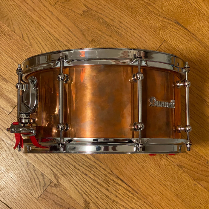 "Used 13""x6.5"" Dunnett Classic Copper Snare Drum"