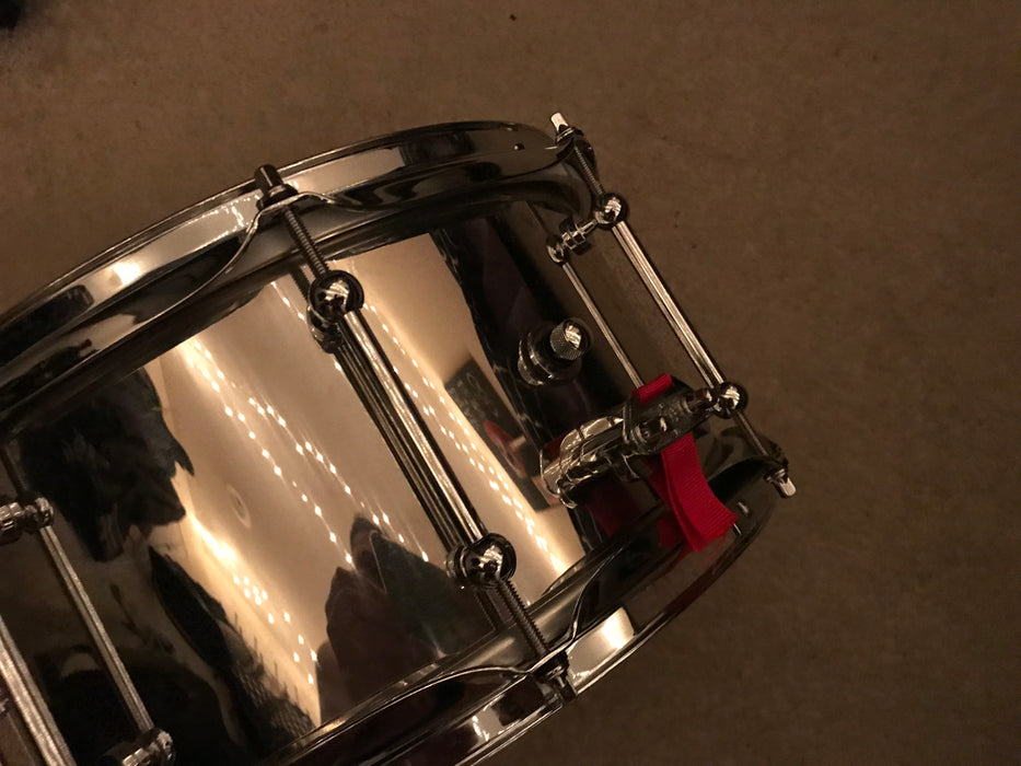"13""x6.5"" Dunnett Classic Polished Stainless Steel Snare"
