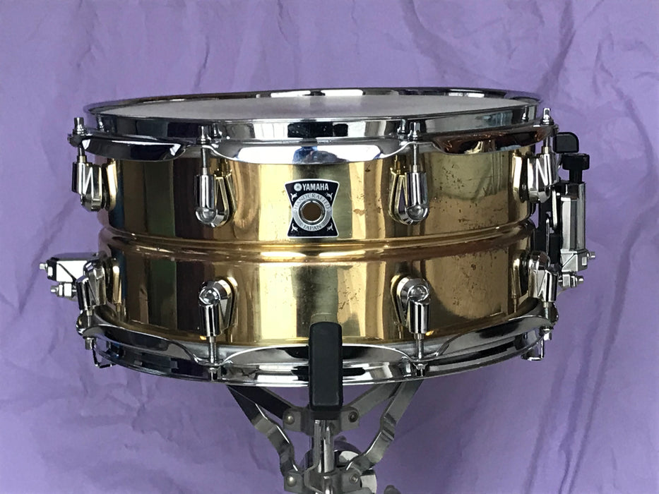 "13"" x 6.5"" Yamaha SD4365 Handcrafted MIJ Brass Snare Drum"