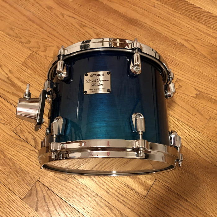 "10""x8"" Yamaha BTT1510U Birch Custom Absolute Nouveau Rack Tom - Sea Blue Fade"