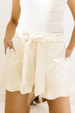 Coastal Cream Shorts - Luca + Grae