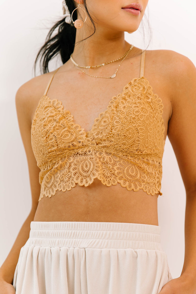 Cuddled Up Honey Bralette - Luca + Grae