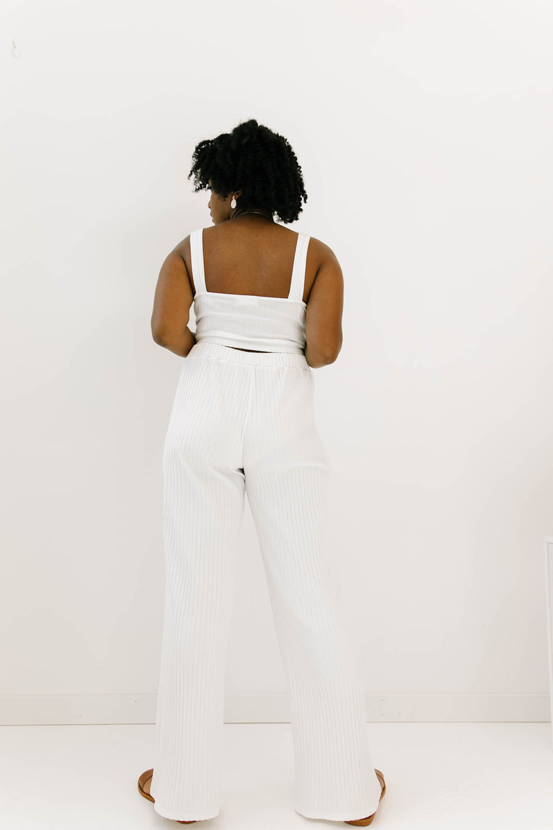 Perfect Match White Top & Pants Set - Luca + Grae