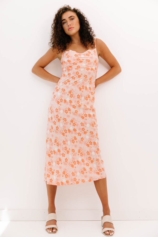 Peachy Vibes Midi Dress - Luca + Grae