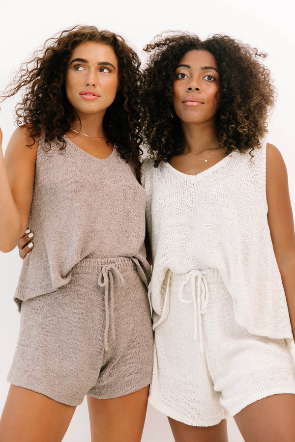 Beach Abode Mocha Knit Set - Luca + Grae