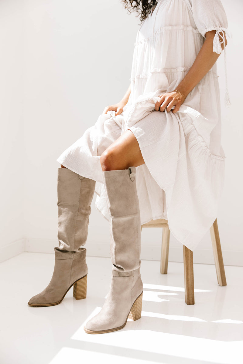 Morningside Taupe Boots - Luca + Grae
