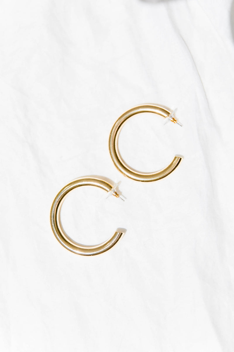 Golden Girl Hoop Earrings - Luca + Grae