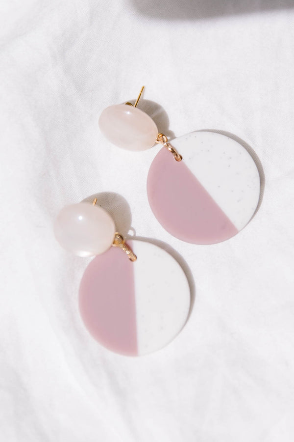 Two Tone Pink Earrings - Luca + Grae