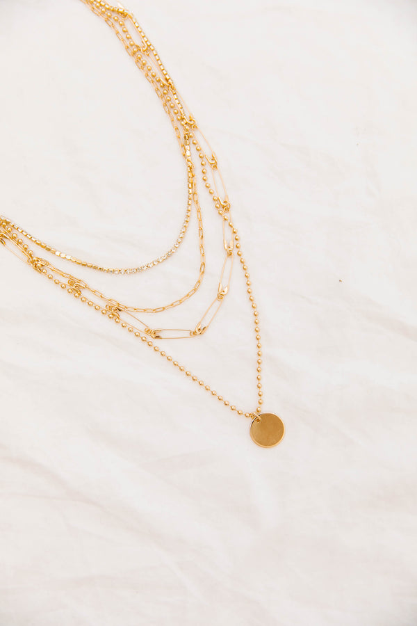 *Valencia Layered Necklace - Luca + Grae