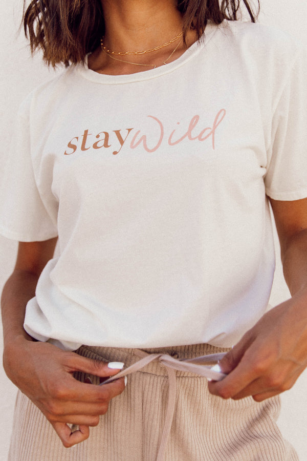 Aspyn The Label Stay Wild Tee - Luca + Grae