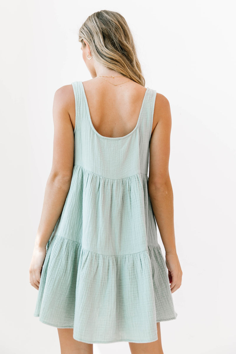 Starting Fresh Sage Dress - Luca + Grae