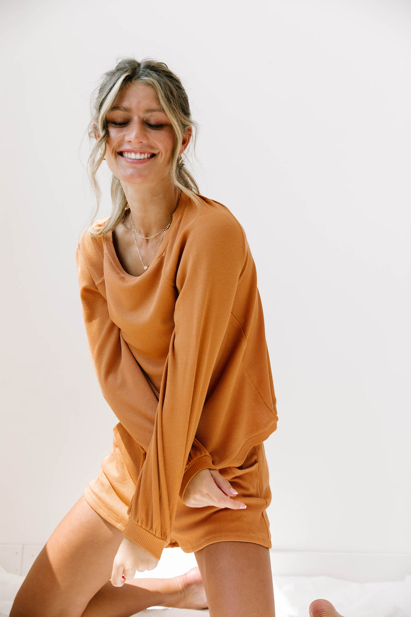 Hide Away Rust Knit Set - Luca + Grae