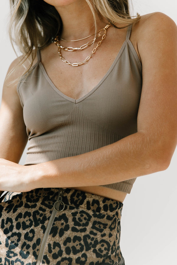 Early Bird Brown Bralette - Luca + Grae