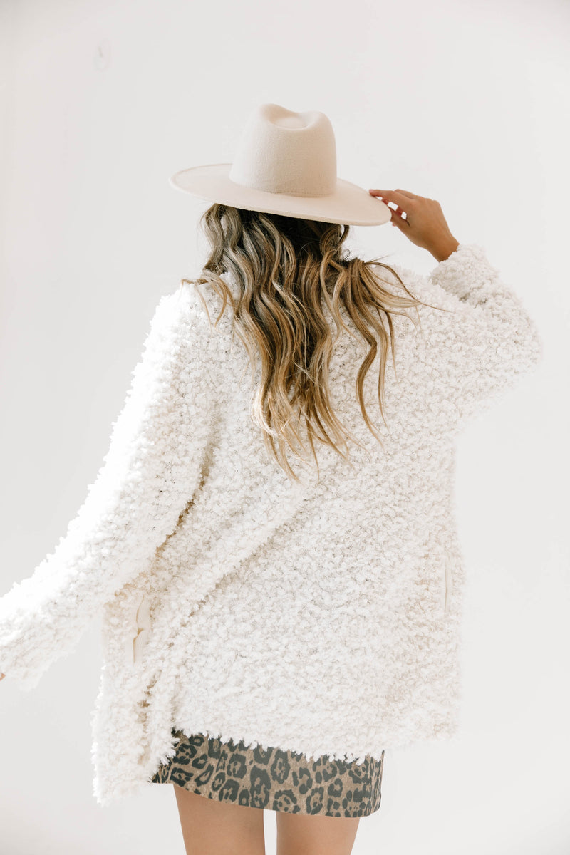 Deep Breath Cream Cardigan - Luca + Grae