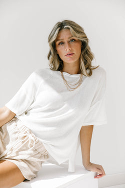 Take It Easy White Top - Luca + Grae