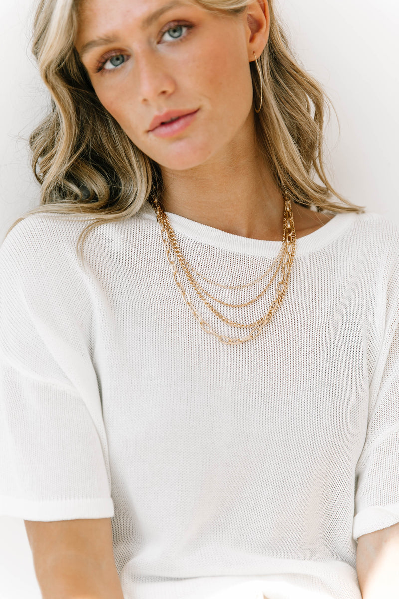 Gold Haze Layered Necklace - Luca + Grae