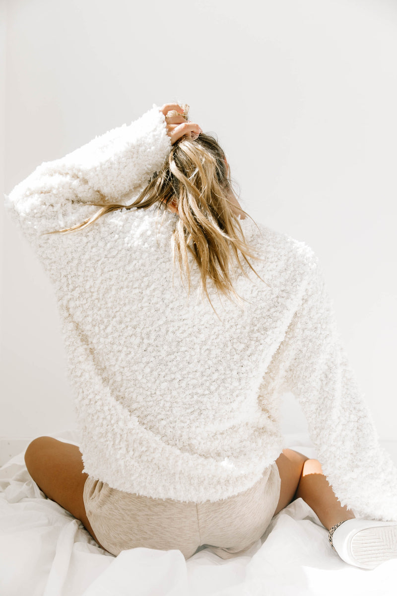 Open Arms Ivory Sweater - Luca + Grae
