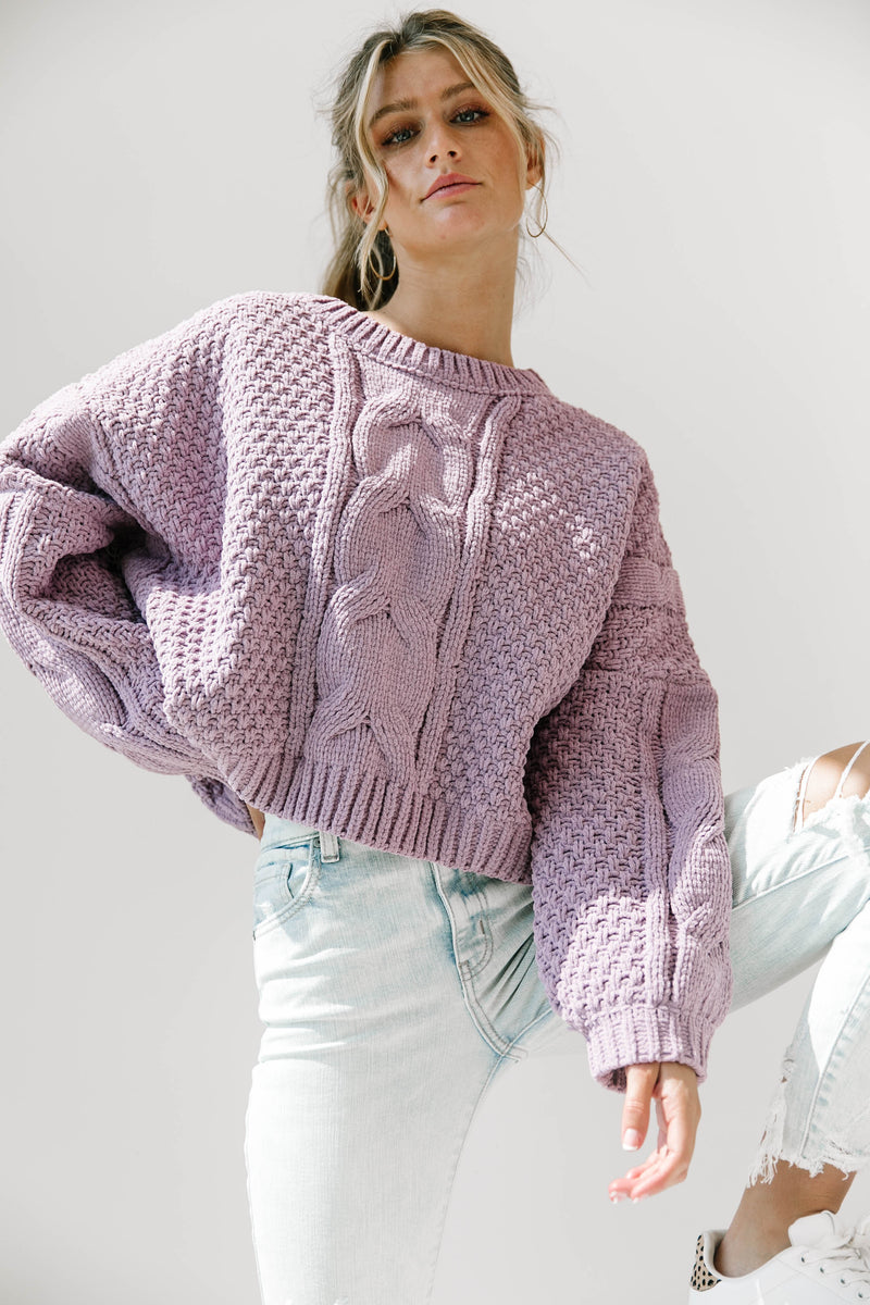 Admiration Lavender Knit Sweater - Luca + Grae