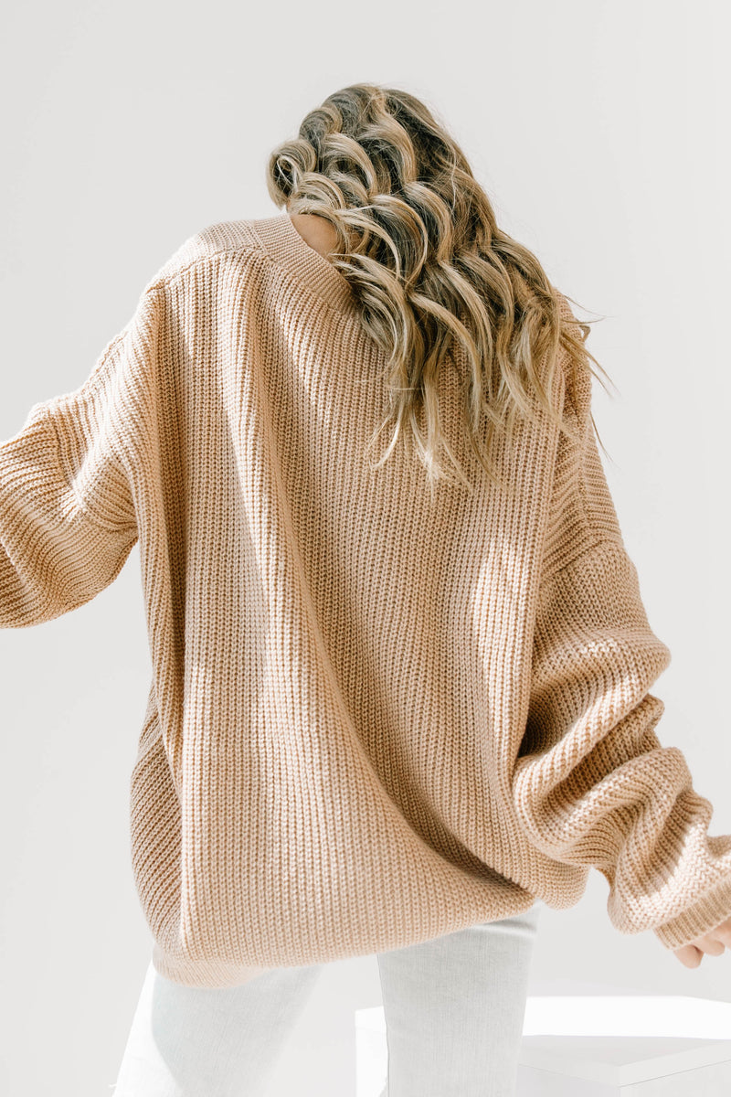 Talk To Me Tan Cardigan - Luca + Grae