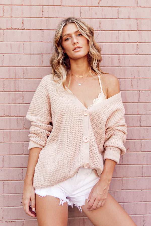 Comfort Zone Dusty Pink Cardigan - Luca + Grae