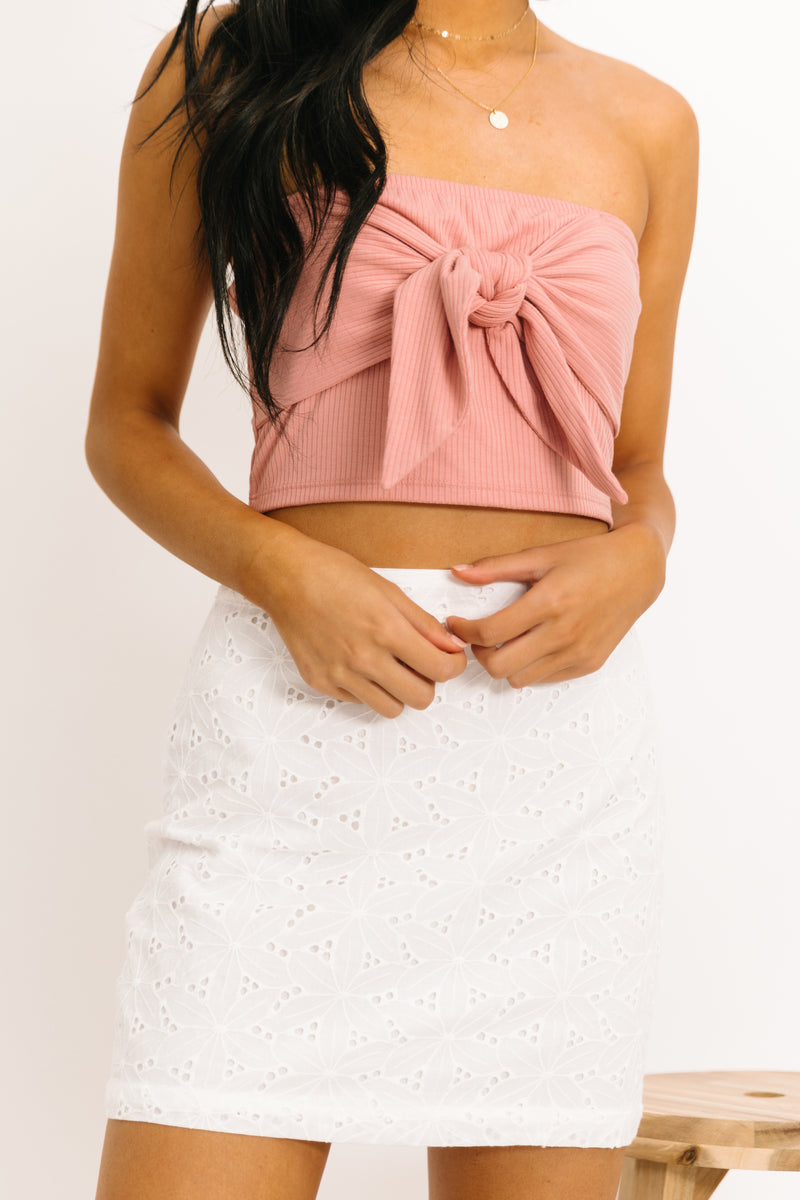 Small Town White Skirt - Luca + Grae
