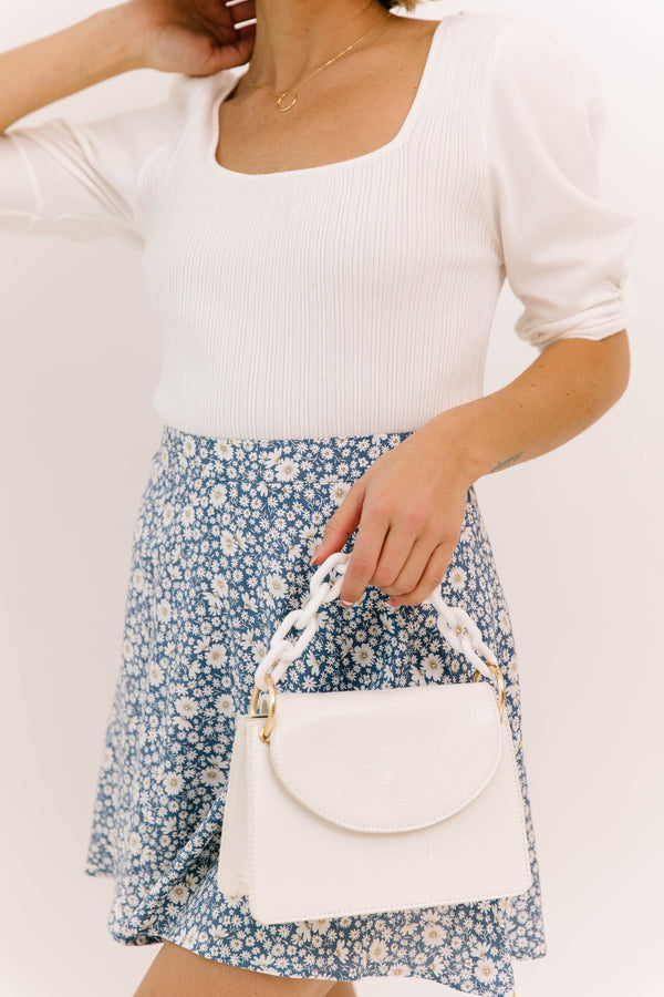 *Night In The City White Handbag - Luca + Grae