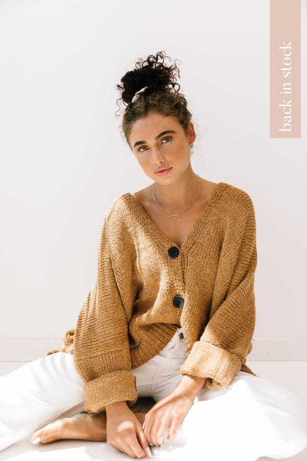 Chai Latte Oversized Cardigan