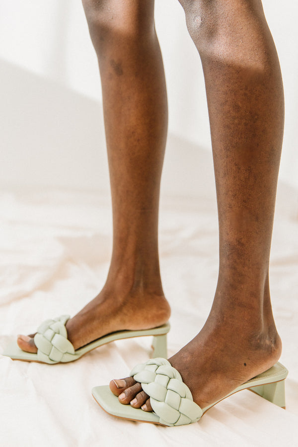 Little Twist Sage Sandals - Luca + Grae