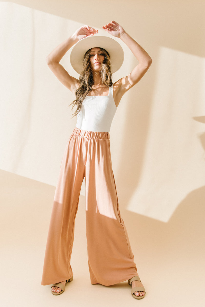 Peach Pines Flowy Pants - Luca + Grae