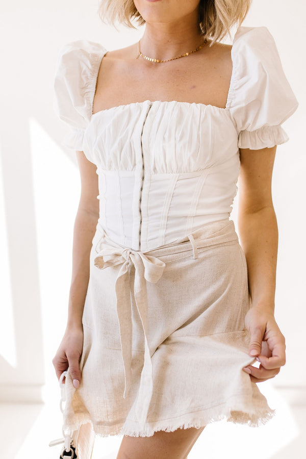 *Bridgerton White Corset Top - Luca + Grae