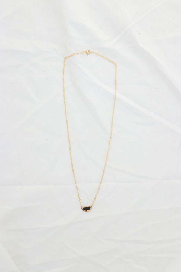 Mini Half Moon Disc Necklace - Luca + Grae