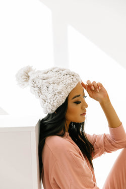 Beat The Chill Ivory Beanie - Luca + Grae