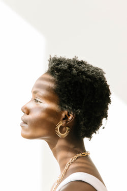 A Little Edge Earrings - Luca + Grae