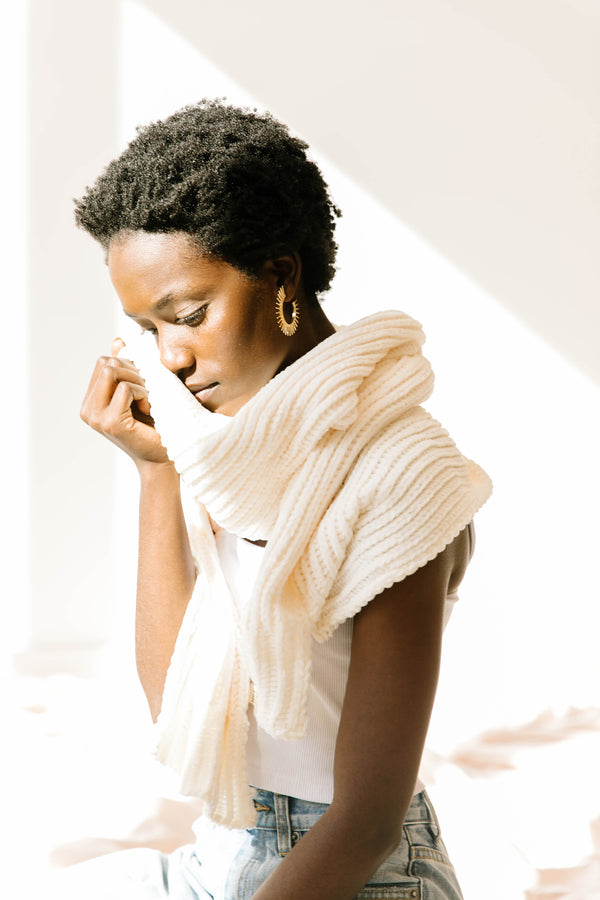 Say It Over Ivory Scarf - Luca + Grae
