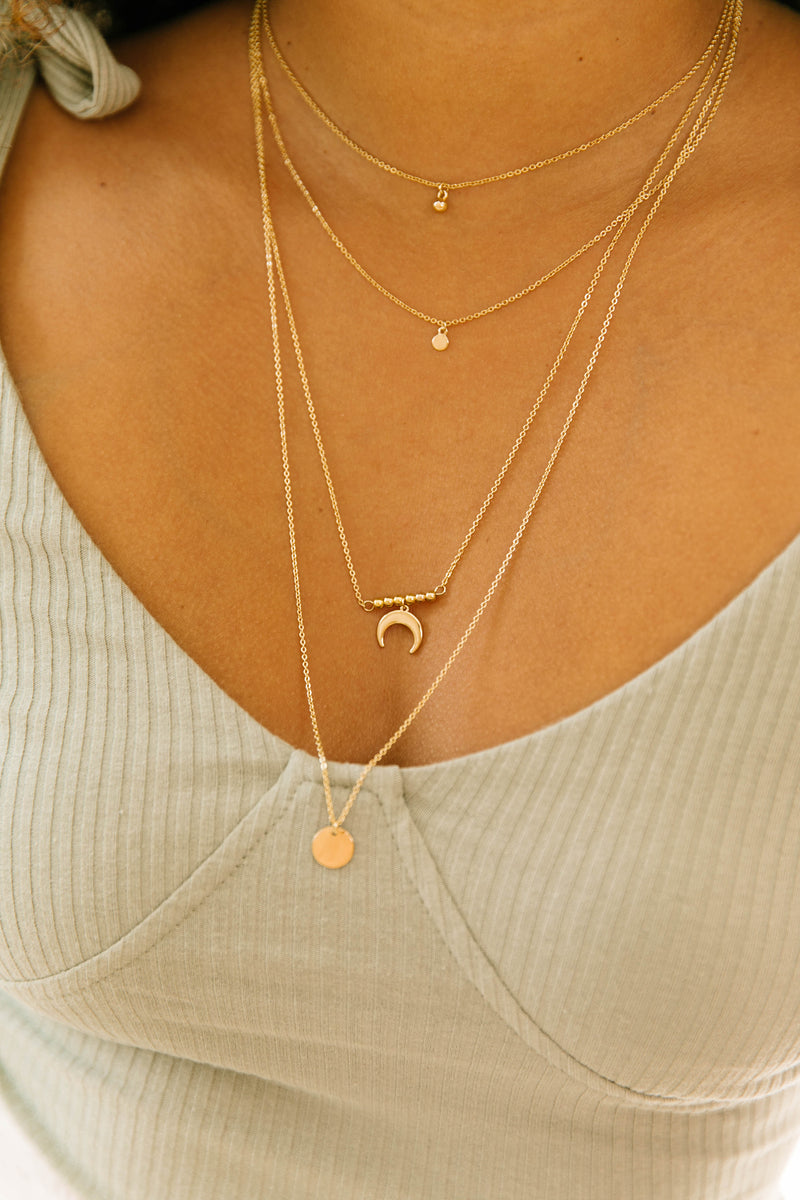 Moonlight Layered Necklace - Luca + Grae